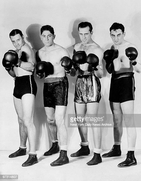 Golden Gloves heavyweights Marty Aocis George Maselli Robert Dobson and Milton German