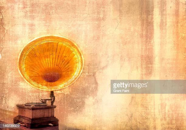 Golden gramophone.