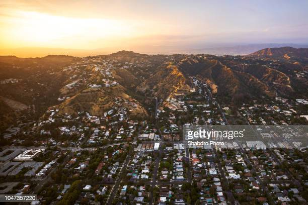 golden hills - hollywood hills stock photos and pictures