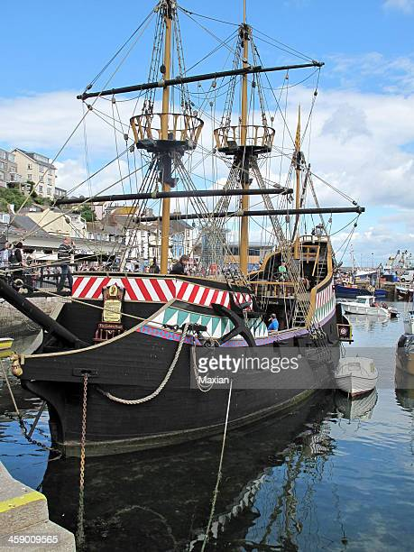 golden hind - golden hind ship stock photos and pictures