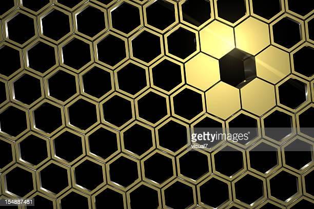 Nid d'abeille or en mesh
