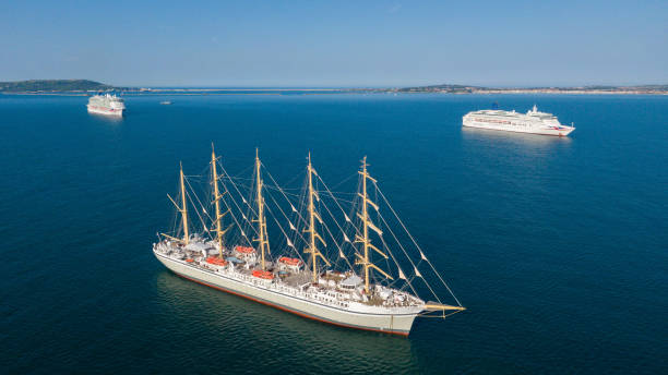 GBR: World's Largest Tall Ship Arrives In UK