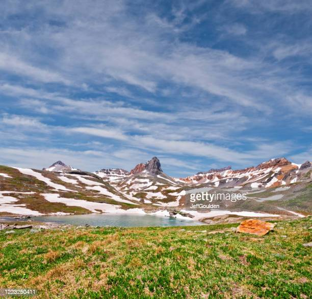 golden horn above upper ice lake basin - jeff goulden stock pictures, royalty-free photos & images