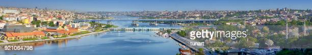 golden horn, istanbul, turkey - istanbul stock photos and pictures