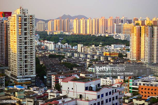 golden hour in luohu - golden hour stock pictures, royalty-free photos & images