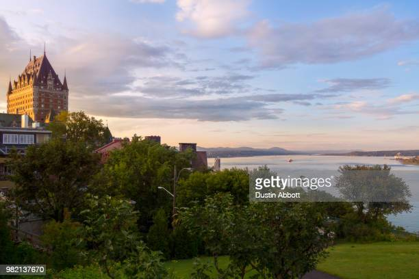 golden hour in quebec - dustin abbott stock pictures, royalty-free photos & images