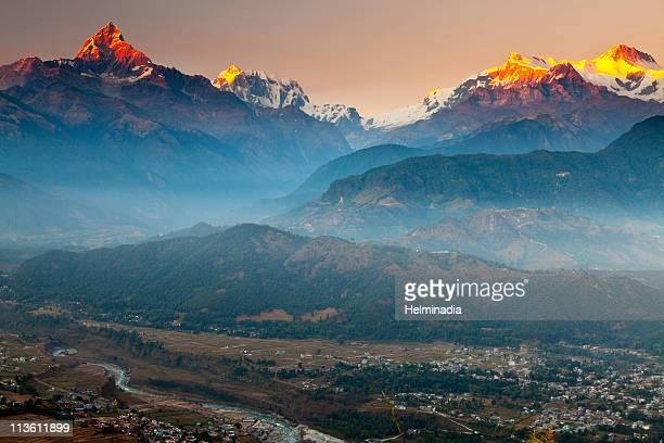 Golden light at Annapurna
