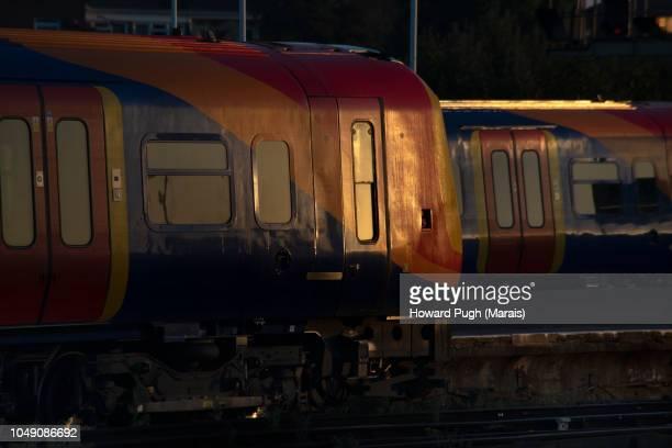 Golden Light of Clapham Junction Railroad Station, Battersea