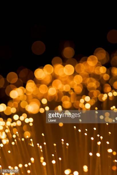 Fondo dorado de luces
