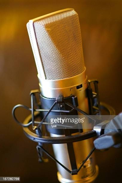 golden mic - american tv presenters stock pictures, royalty-free photos & images