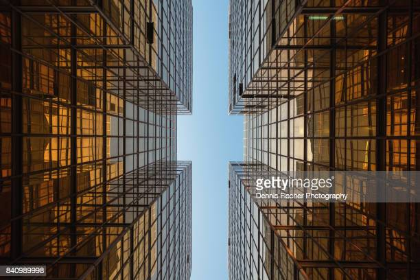 golden mirrors - symmetry stock photos and pictures