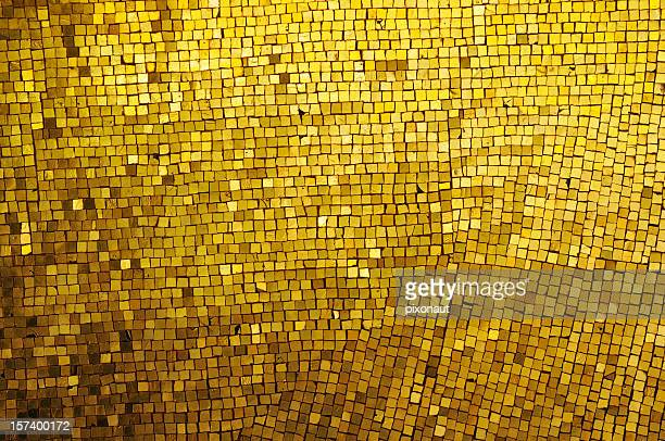 golden mosaic - gilded stock pictures, royalty-free photos & images