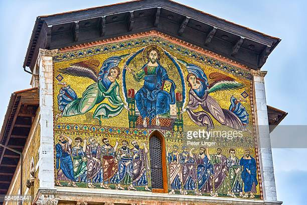 Golden mosaics on the Basilica of San Frediano