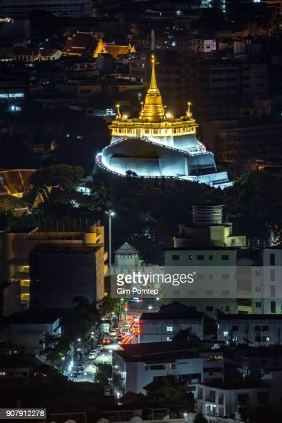 Golden Mountain temple of bangkok, thailand