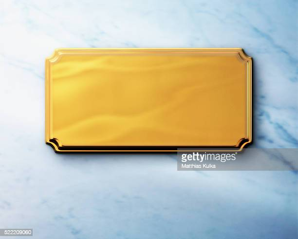 golden nameplate - nameplate stock pictures, royalty-free photos & images