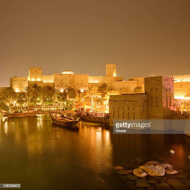 golden night - jumeirah stock pictures, royalty-free photos & images