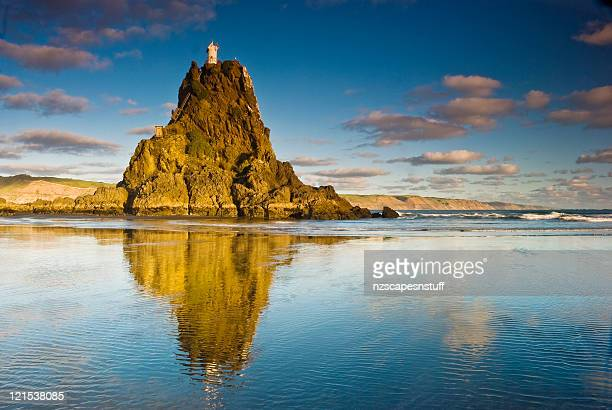 golden nugget with lighthouse on top - auckland stock pictures, royalty-free photos & images