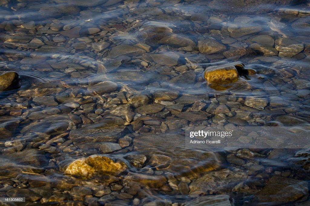 Golden nuggets on Trasimeno Lake : Foto stock