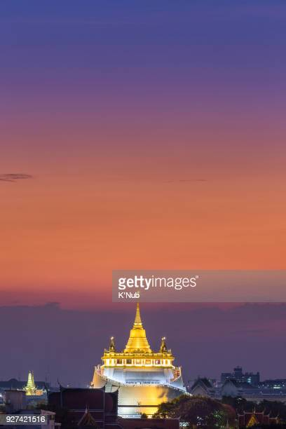 Golden pagoda or Golden Mountain temple is a famous location in