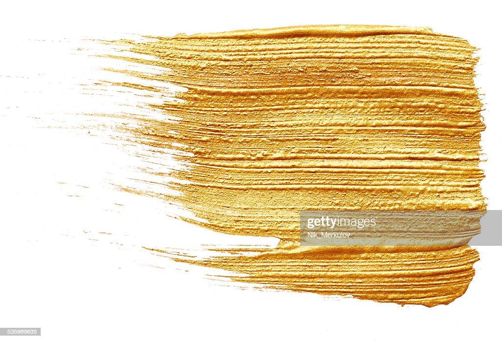 Golden paint : Stock Photo