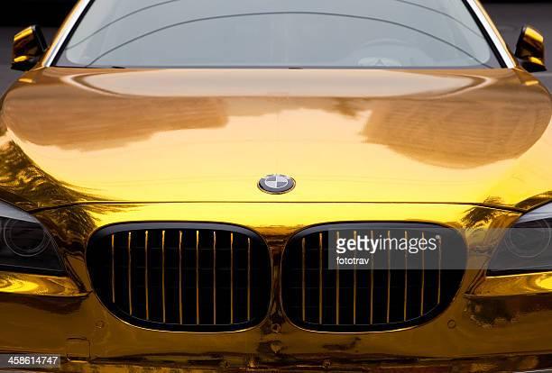 Golden painted BMW in Peking, China
