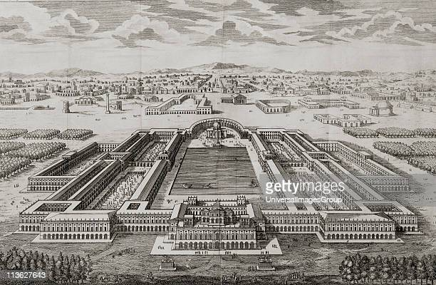 Golden Palace of the Emperor Nero 18th century print engraved by J Blundell