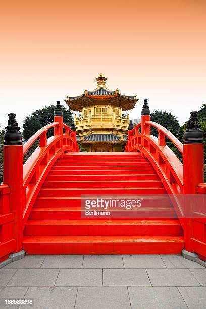 Golden pavilion in Chinese nunnery