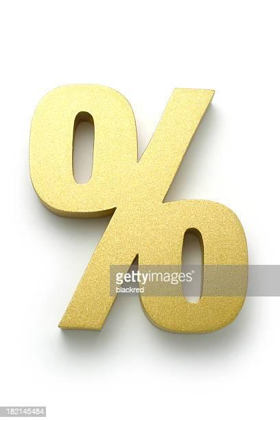 Golden Percentage Symbol