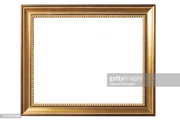 golden picture frame background - frame stock pictures, royalty-free photos & images