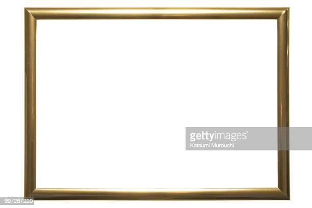Golden picture frame background