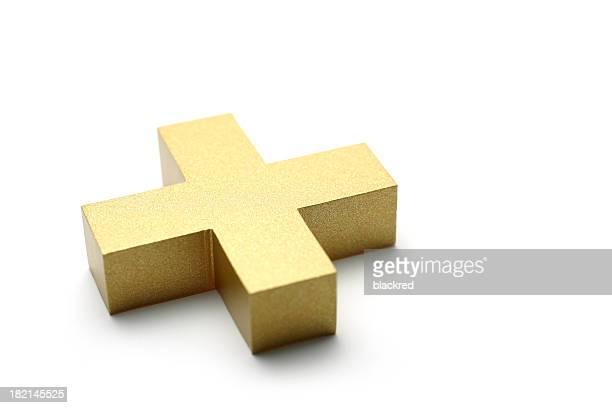 Golden Plus Symbol