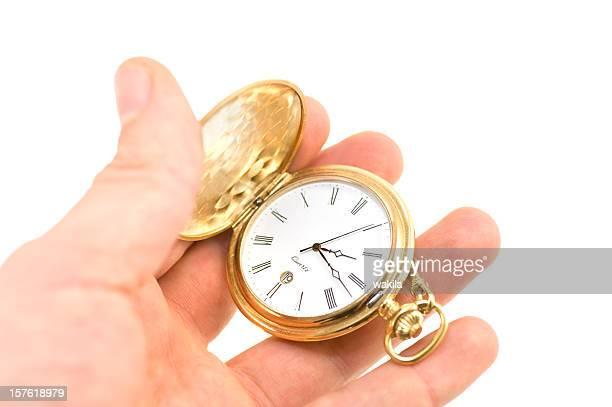 golden relógio de bolso em mãos - segundo tempo esporte - fotografias e filmes do acervo