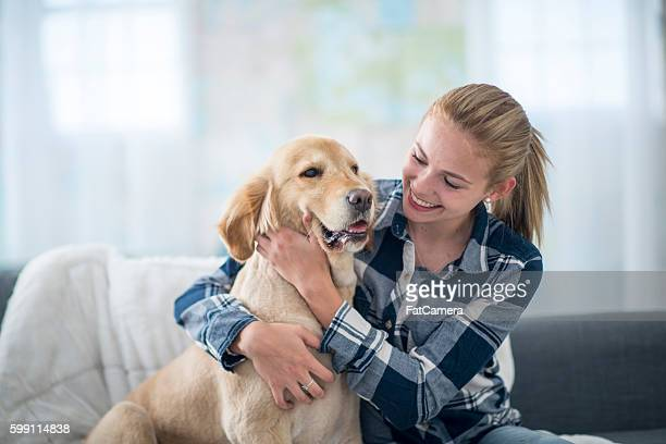 Golden Retriever and His Owner