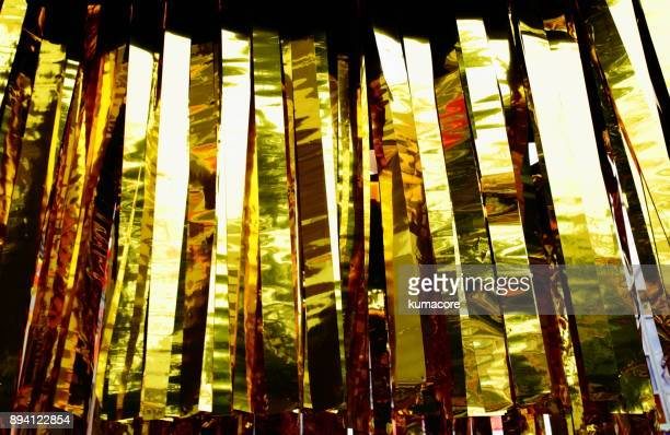 golden ribbon - tanabata festival stock pictures, royalty-free photos & images