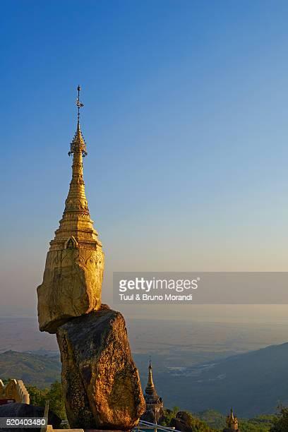 Golden rock of Nwa La Bo, Mawlamyine (Moulmein), Mon State, Myanmar (Burma)
