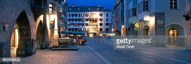 golden roof (goldenes dach) in old town innsbruck - innsbruck stock pictures, royalty-free photos & images