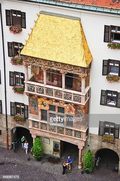 golden roof, innsbruck, austria - innsbruck stock pictures, royalty-free photos & images