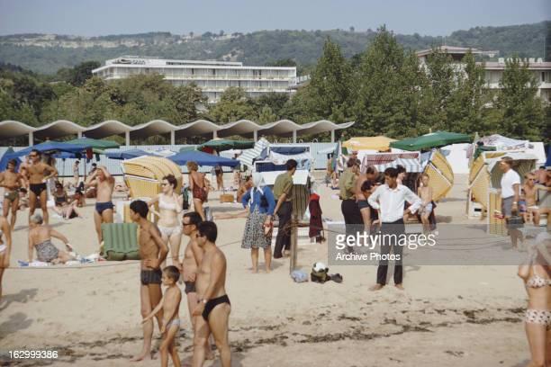 Golden Sands a seaside resort on the Black Sea in Bulgaria October 1967