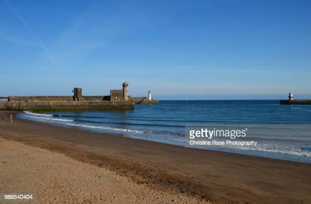 golden sands - whitehaven cumbria stock pictures, royalty-free photos & images