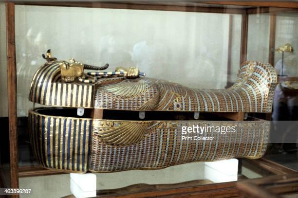 Golden sarcophagus of the Pharoah Tutankhamun c1325 BC