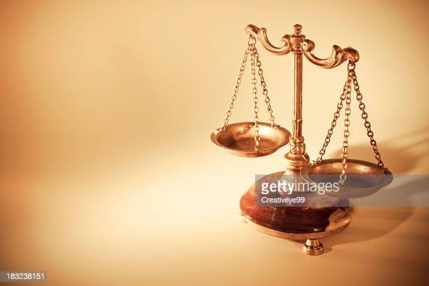 golden scales of justice - justice concept stock pictures, royalty-free photos & images