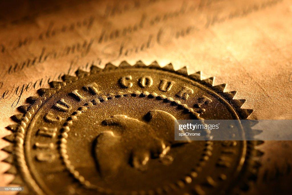 Golden Seal-Circuit Court : Stock-Foto