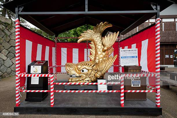 golden shachihoko in japan - aichi prefecture stock pictures, royalty-free photos & images