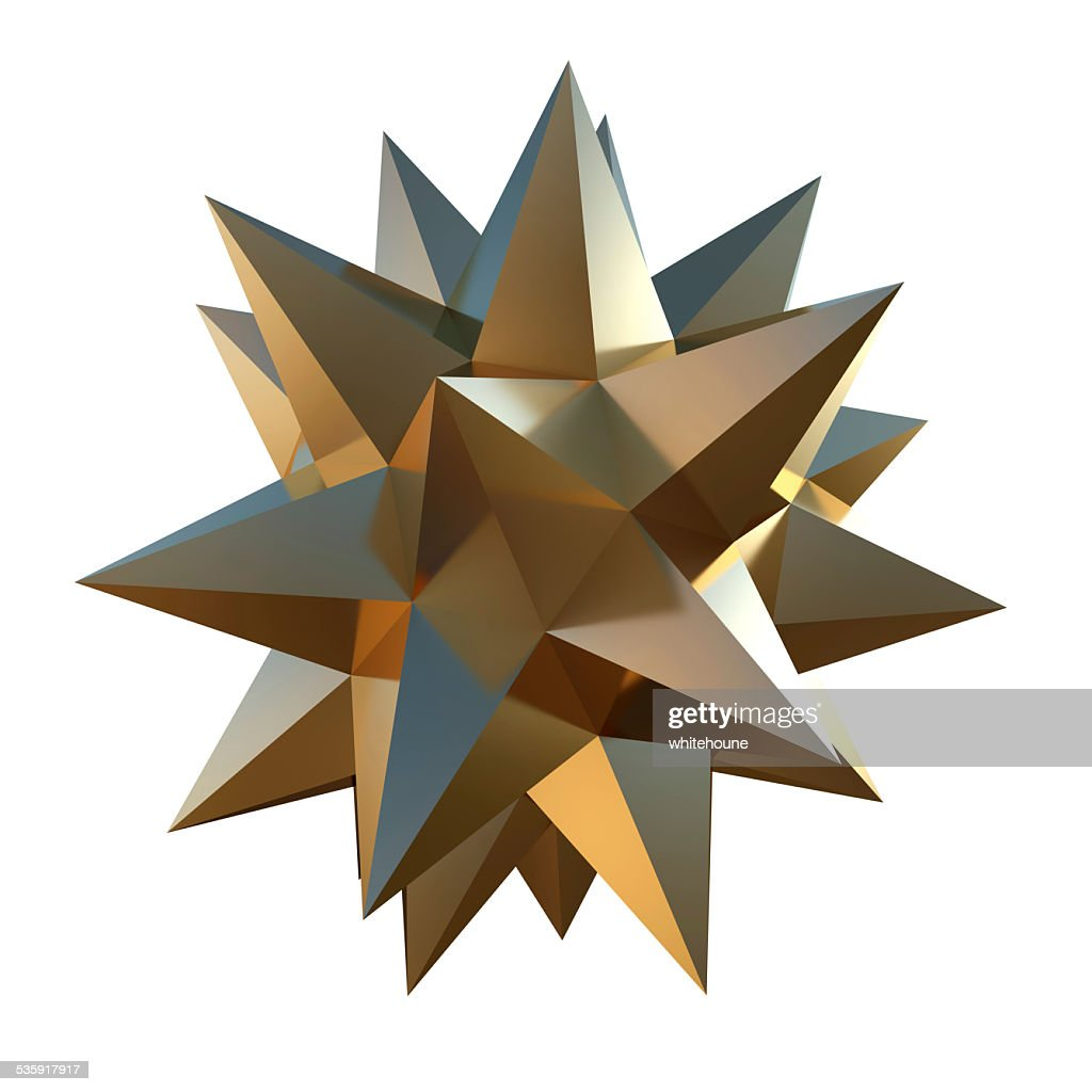 golden shape : Stock Photo