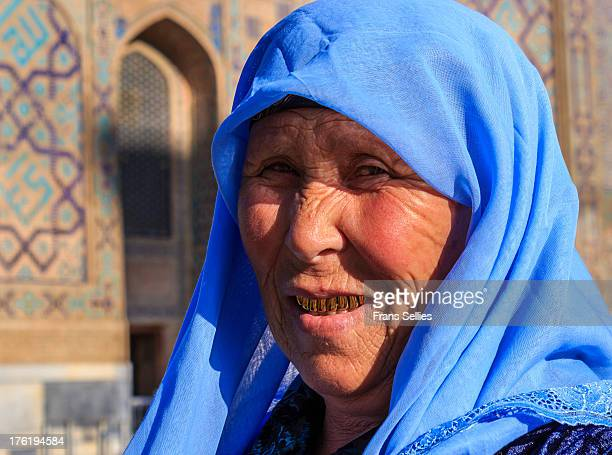 Golden smile in Uzbekistan. Golden teeth are considered as a symbol of wealth in Central Asia.