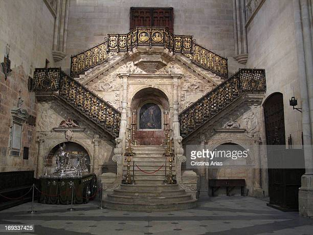 Golden Staircase of the cathedral of Burgos, by the architect and sculptor Diego de Siloe following the classic Renaissance style, represented an...