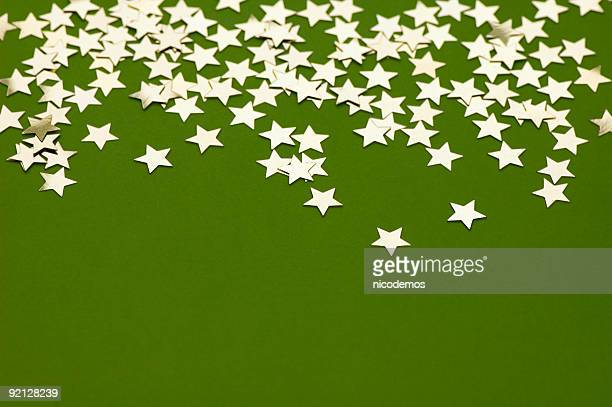 Golden Stars on Green