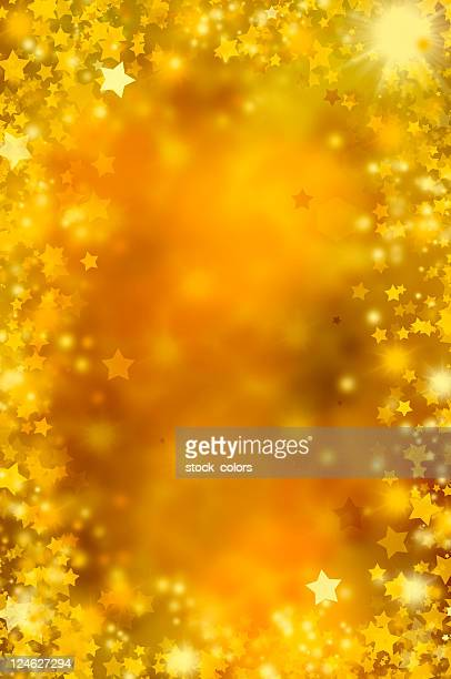 golden stars - focus on background stock pictures, royalty-free photos & images