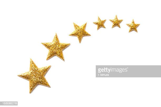 golden stars - star shape stock pictures, royalty-free photos & images