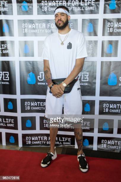 Golden State Warriors center JaVale McGee arrives at Water For Life Charity Softball Game at OaklandAlameda County Coliseum on June 23 2018 in...